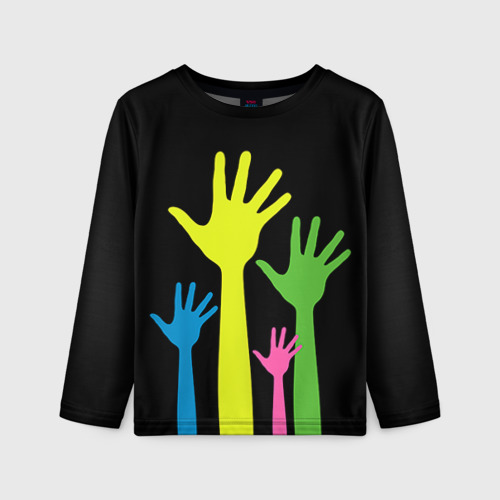 Детский лонгслив 3D Руки вверх!