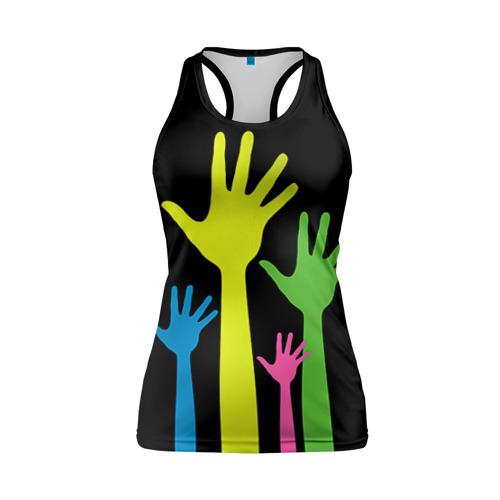 Женская майка 3D спортивная Руки вверх!