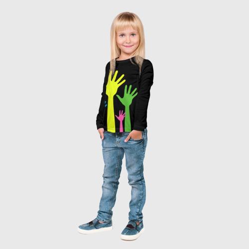 Детский лонгслив 3D Руки вверх! Фото 01