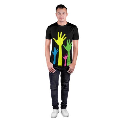 Мужская футболка 3D спортивная  Фото 04, Руки вверх!