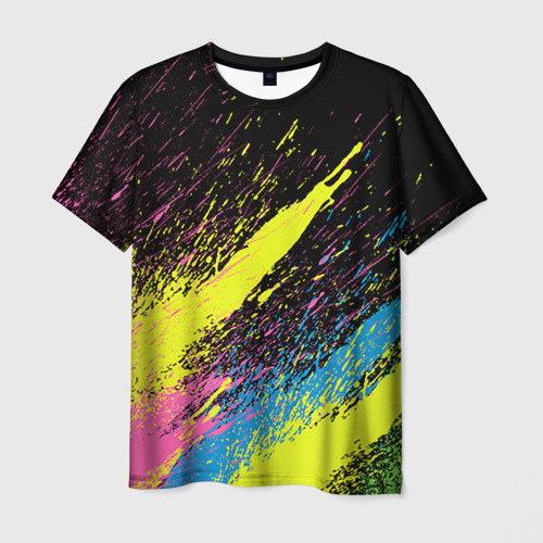 Мужская футболка 3D Брызги