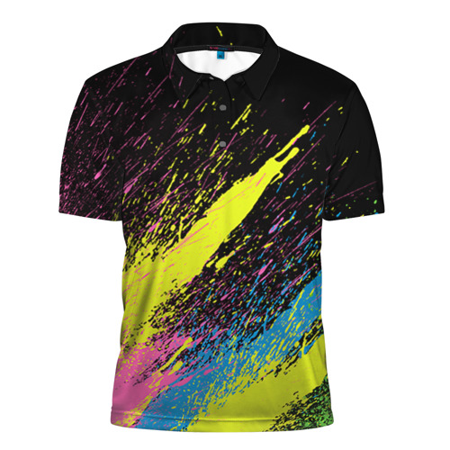 Мужская рубашка поло 3D Брызги