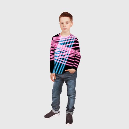 Детский лонгслив 3D Неон Фото 01
