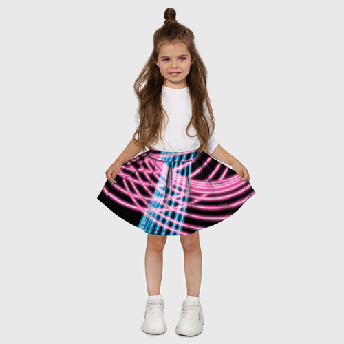 Детская юбка-солнце 3D  Фото 03, Неон