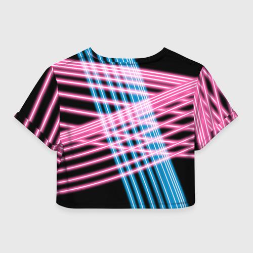 Женская футболка Crop-top 3D Неон Фото 01