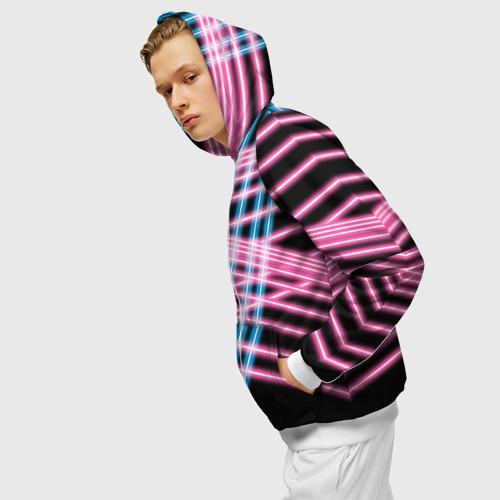 Мужская толстовка 3D на молнии Неон Фото 01