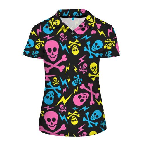 Женская рубашка поло 3D Не влезай - убьёт!