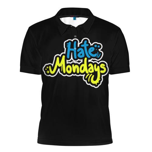 Мужская рубашка поло 3D Ненавижу понедельники!