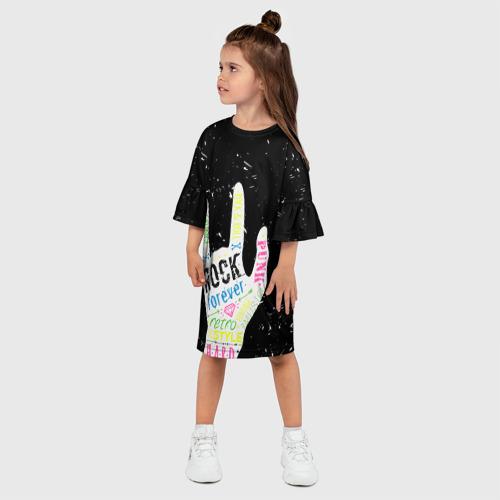 Детское платье 3D  Фото 03, Рок форева!