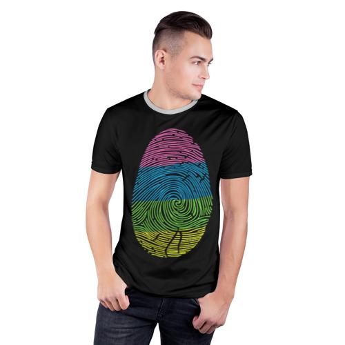 Мужская футболка 3D спортивная Уникальность Фото 01