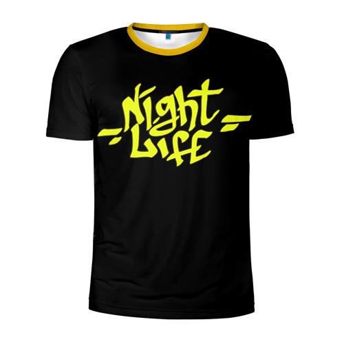 Мужская футболка 3D спортивная Ночная жизнь