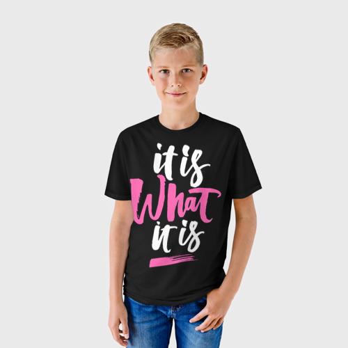 Детская футболка 3D  Фото 01, Это то, что оно есть...