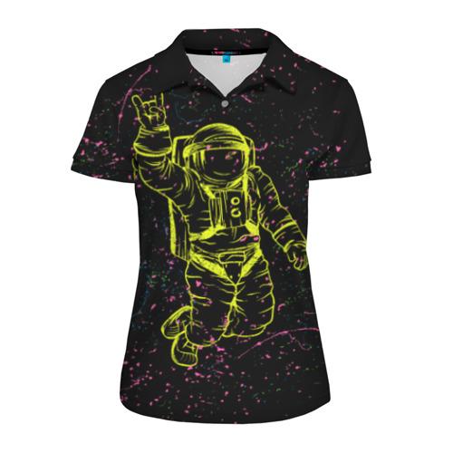 Женская рубашка поло 3D Космический рок