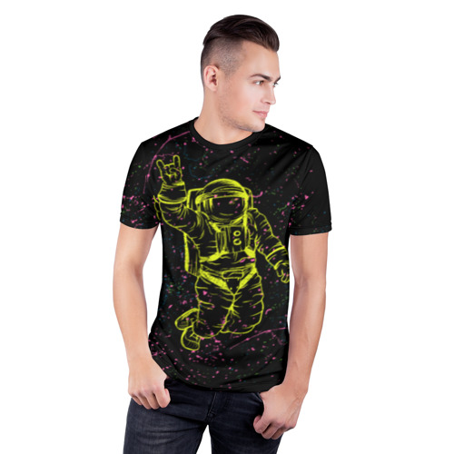 Мужская футболка 3D спортивная Космический рок Фото 01