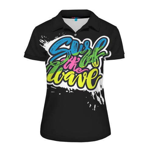 Женская рубашка поло 3D Скользи по волнам
