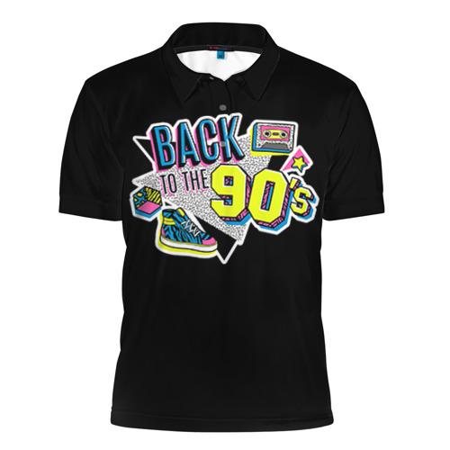 Мужская рубашка поло 3D Назад в 90-е!