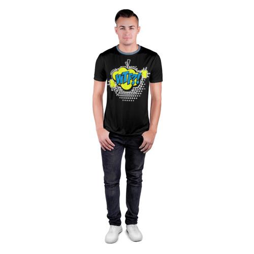 Мужская футболка 3D спортивная WTF!? Фото 01