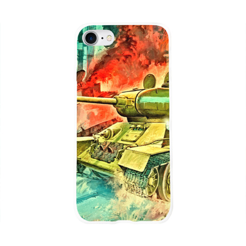 Чехол для Apple iPhone 8 силиконовый глянцевый  Фото 01, Tank