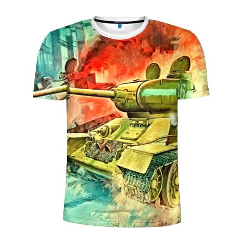Мужская футболка 3D спортивная Tank Фото 01