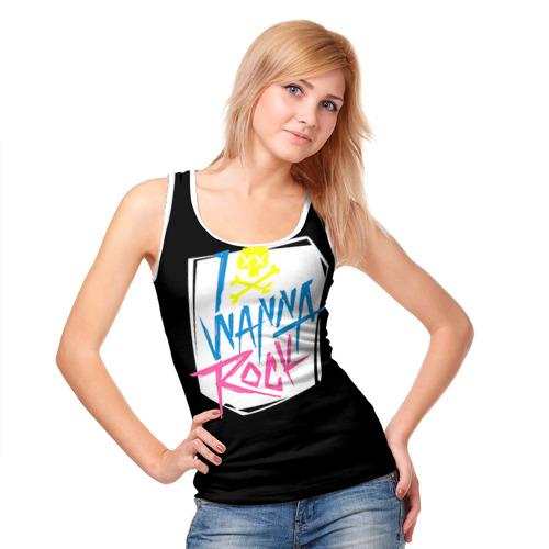 Женская майка 3D  Фото 05, I Wanna Rock!