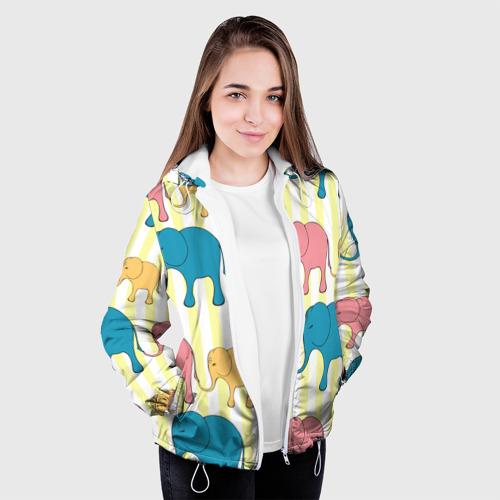 Женская куртка 3D  Фото 04, Слоники