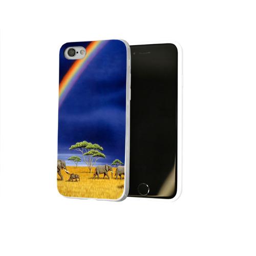 Чехол для Apple iPhone 8 силиконовый глянцевый  Фото 02, Мир