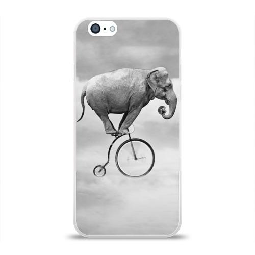 Чехол для Apple iPhone 6 силиконовый глянцевый Hipster Bike