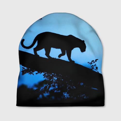 Шапка 3D  Фото 01, Чёрная пантера