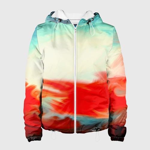 Женская куртка 3D  Фото 01, художественные краски