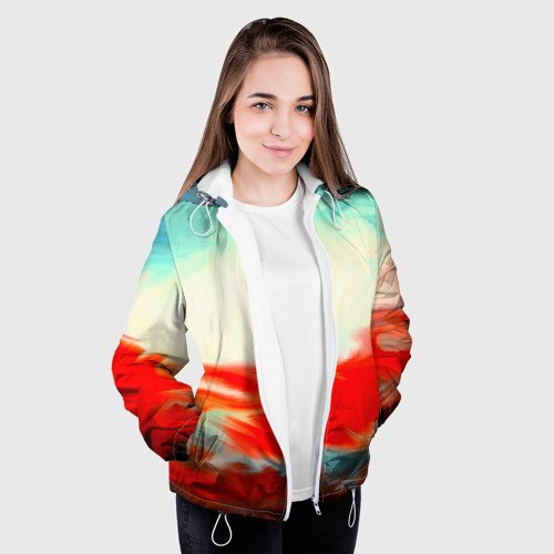 Женская куртка 3D  Фото 04, художественные краски