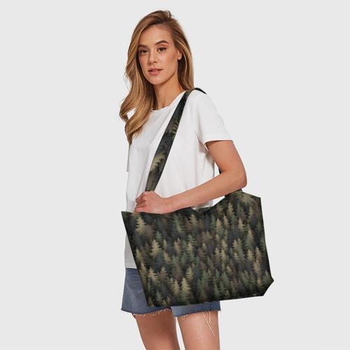 Пляжная сумка 3D Лесной камуфляж Фото 01