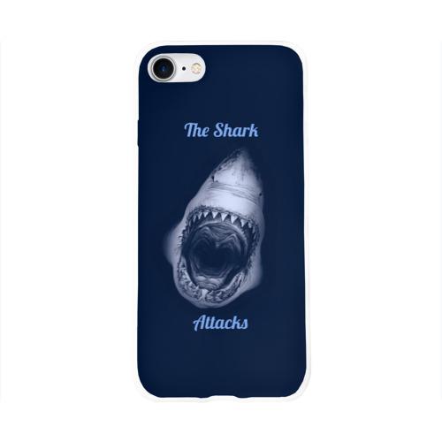 Чехол для Apple iPhone 8 силиконовый глянцевый  Фото 01, the shark attacks