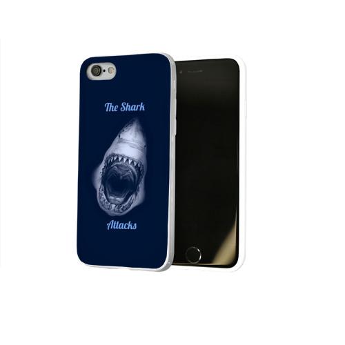 Чехол для Apple iPhone 8 силиконовый глянцевый  Фото 02, the shark attacks