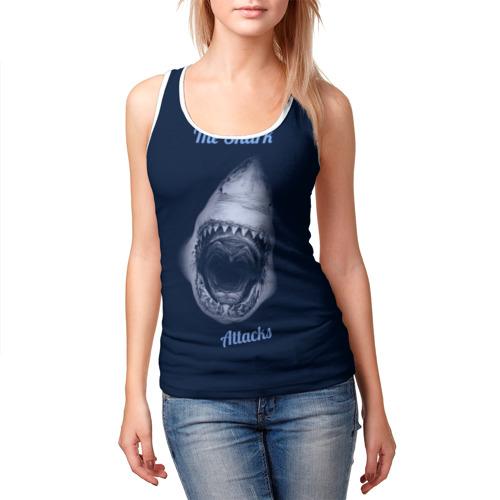 Женская майка 3D  Фото 03, the shark attacks