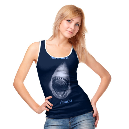 Женская майка 3D  Фото 05, the shark attacks