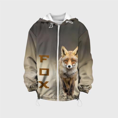 Детская куртка 3D  Фото 01, Рыжий лис (fox)