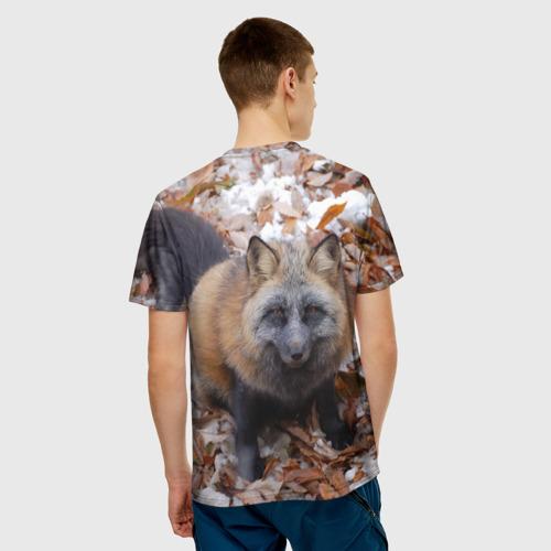 Мужская футболка 3D  Фото 02, Черный лис