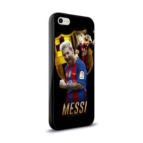 Чехол для Apple iPhone 5/5S силиконовый глянцевый Messi Фото 01