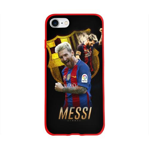 Чехол для Apple iPhone 8 силиконовый глянцевый Messi