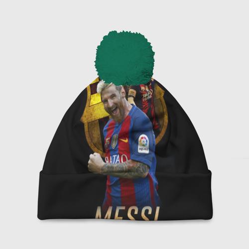 Шапка 3D c помпоном Messi Фото 01