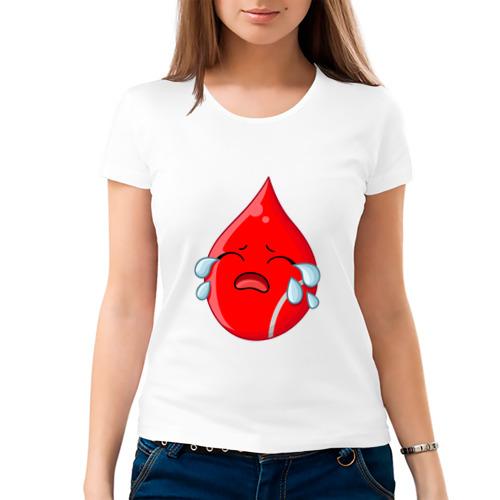 Женская футболка хлопок  Фото 03, Капля Плачет