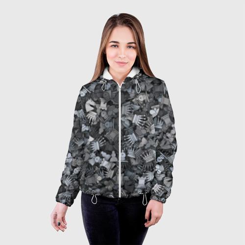 Женская куртка 3D  Фото 03, Шахмотный камуфляж