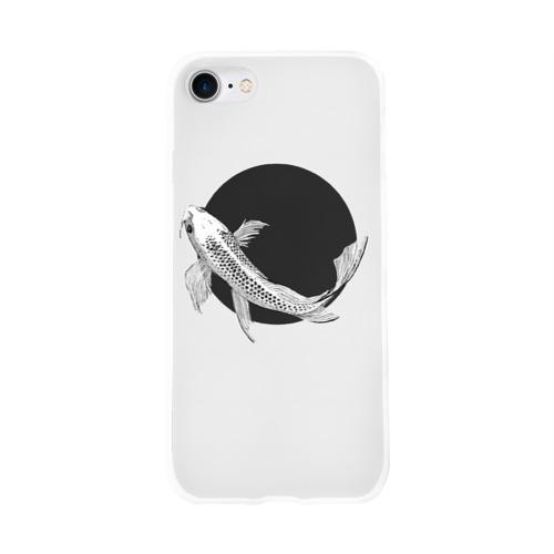 Чехол для Apple iPhone 8 силиконовый глянцевый  Фото 01, Рыба Круг