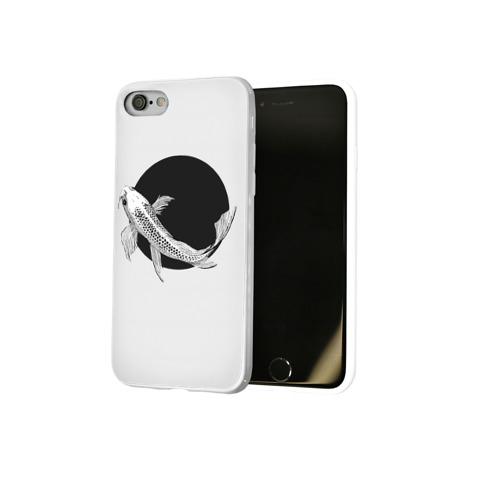 Чехол для Apple iPhone 8 силиконовый глянцевый  Фото 02, Рыба Круг