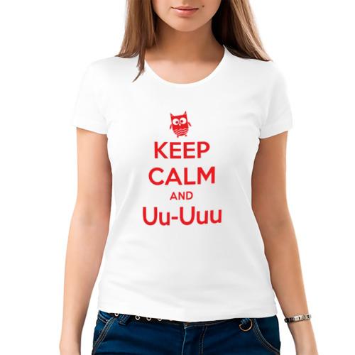 Женская футболка хлопок  Фото 03, Keep Calm and Uu-Uuu