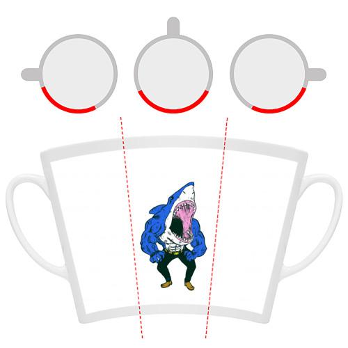 Кружка Латте  Фото 06, Акула-Мен