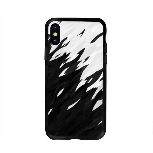 Чехол для Apple iPhone X силиконовый глянцевый Black & white Фото 01