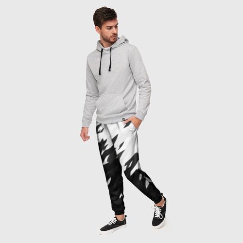 Мужские брюки 3D Black & white Фото 01