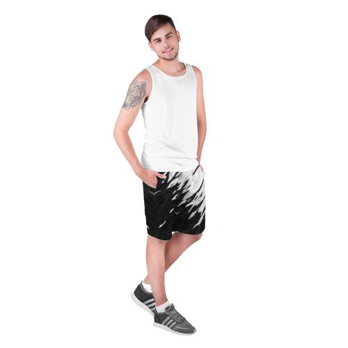 Мужские шорты 3D  Фото 03, Black & white