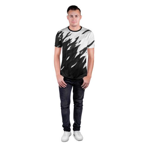 Мужская футболка 3D спортивная Black & white Фото 01